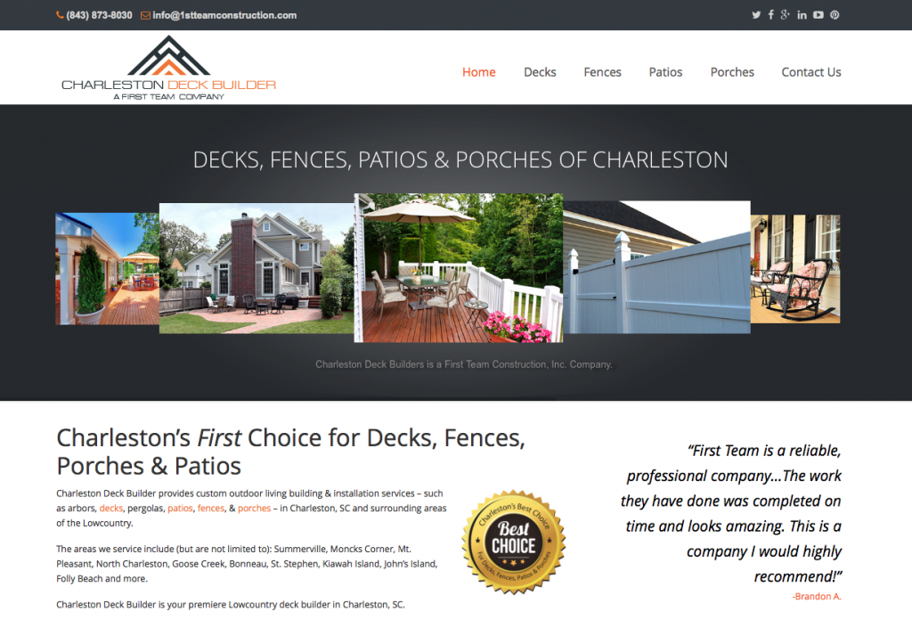 Charleston Deck Builder
