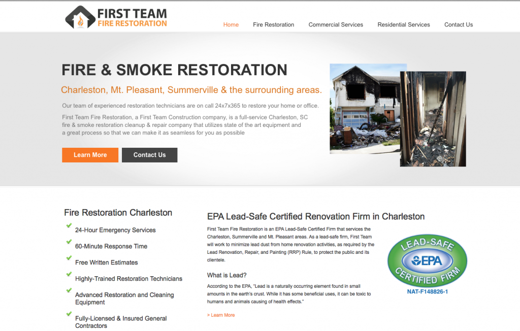 Fire Restoration Charleston