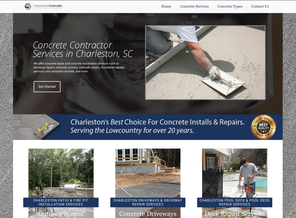 Charleston Concrete First Team Construction
